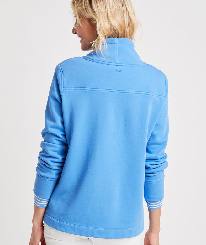 Garment-Dyed Funnel-Neck Relaxed Shep Shirt