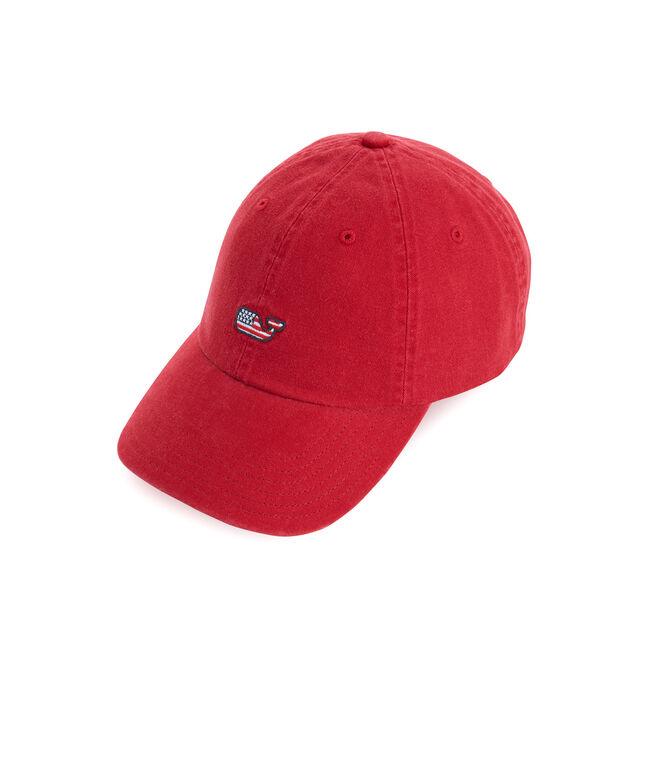 Womens Flag Whale Baseball Hat