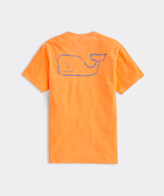 Neon Garment Dyed Vintage Whale Short-Sleeve Pocket Tee