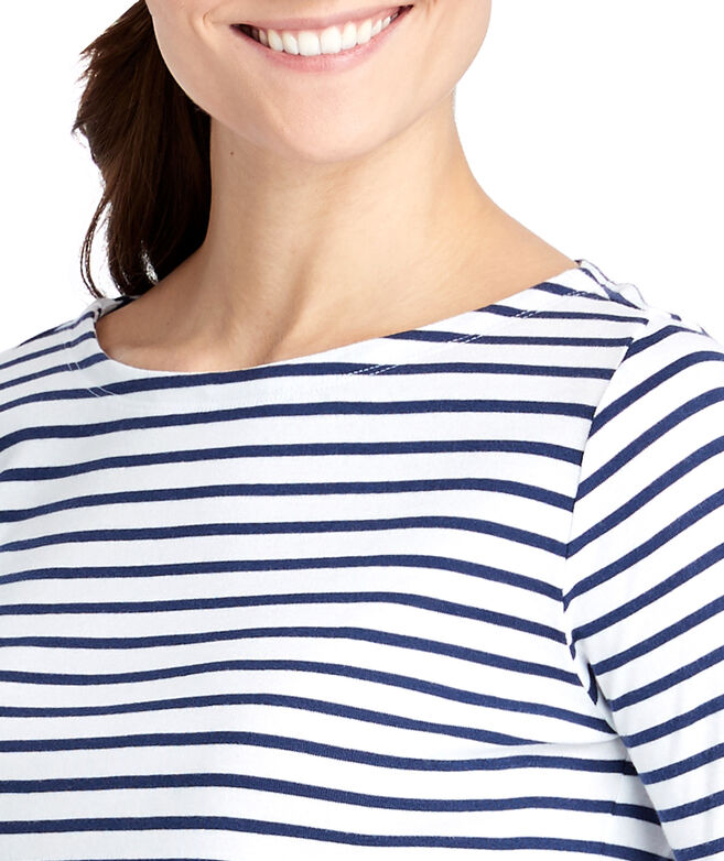 Striped Simple Boatneck Tee