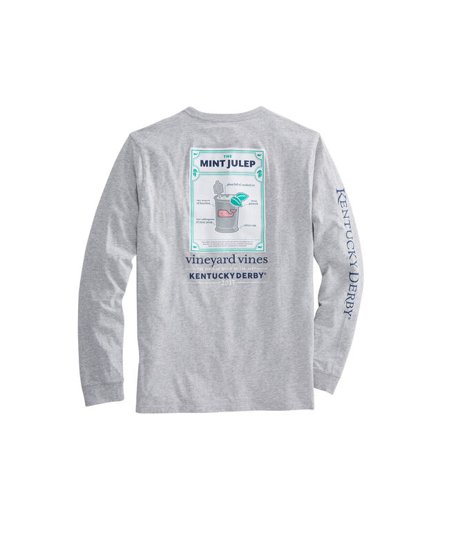 Long-Sleeve Julep Recipe Heather Pocket T-Shirt