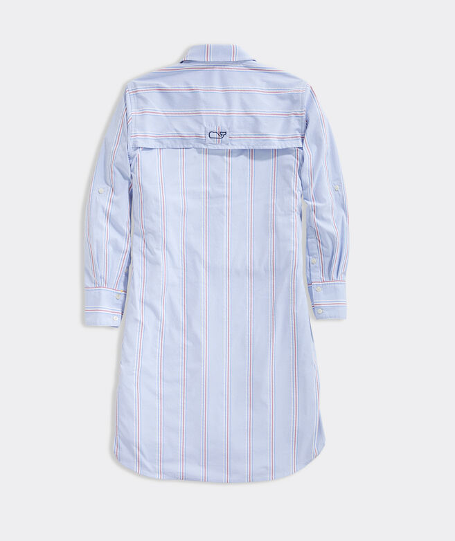 Seersucker Harbor Shirt Cover-Up