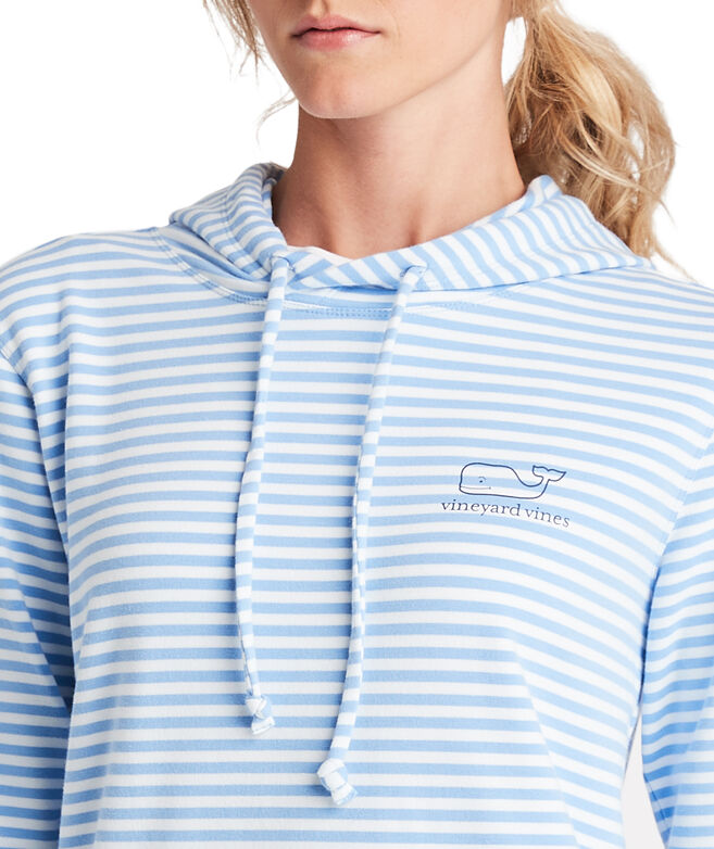 Long-Sleeve Striped Whale Terry Hoodie