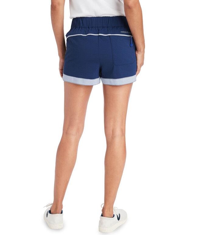 Mixed Stripe Vineyard Seersucker Harbor Shorts
