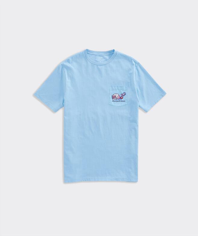 Limited-Edition Premier Lacrosse League Lax Whale Short-Sleeve Pocket Tee