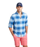 Kings Point Beach Flannel Slim Tucker Shirt