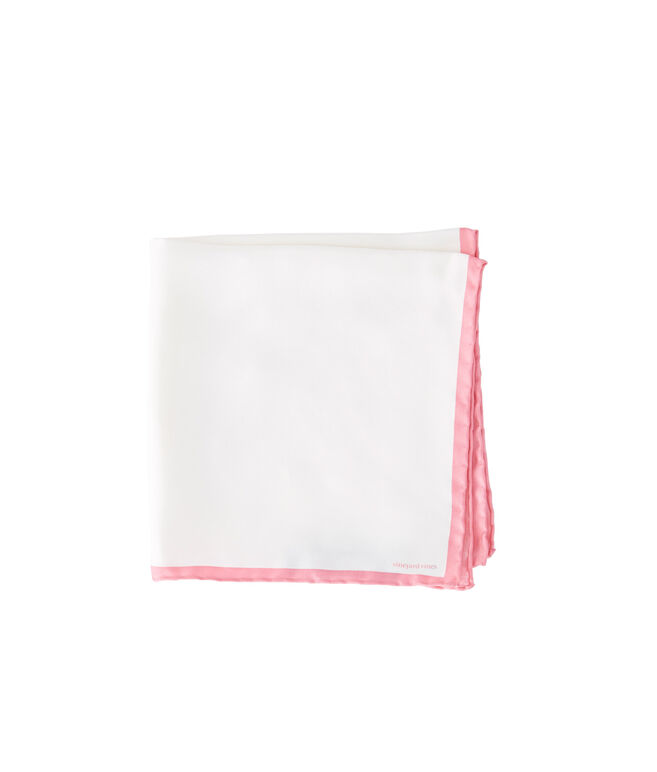 White/Pink Pocket Square