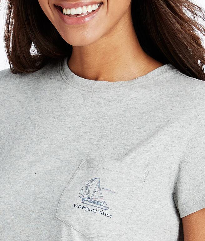 Linear Boat Pocket Tee