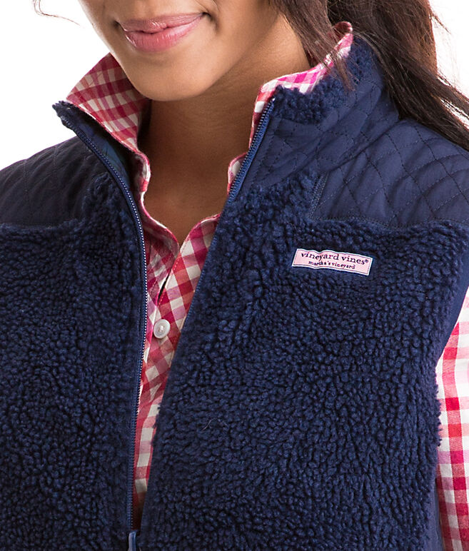 Blackwatch Reversible Quilted Sherpa Vest