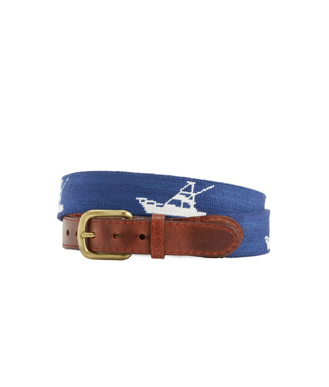 vineyard vines x Smathers & Branson Sportfisher Needlepoint Belt