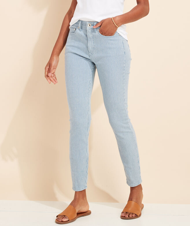 Railroad Stripe Jamie High-Rise Jeans