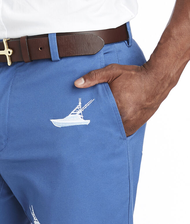 Boat Embroidered Breaker Pants