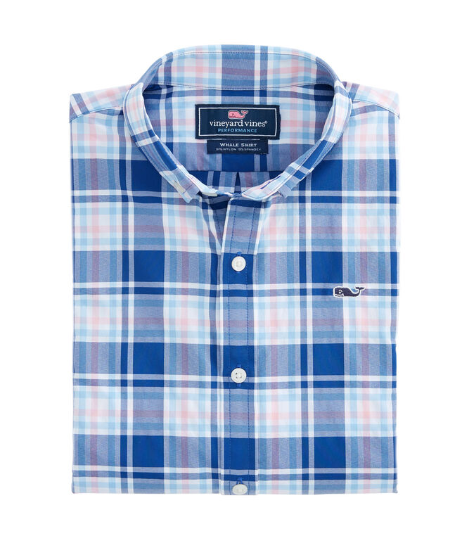 Boys Belmond Plaid Whale Shirt
