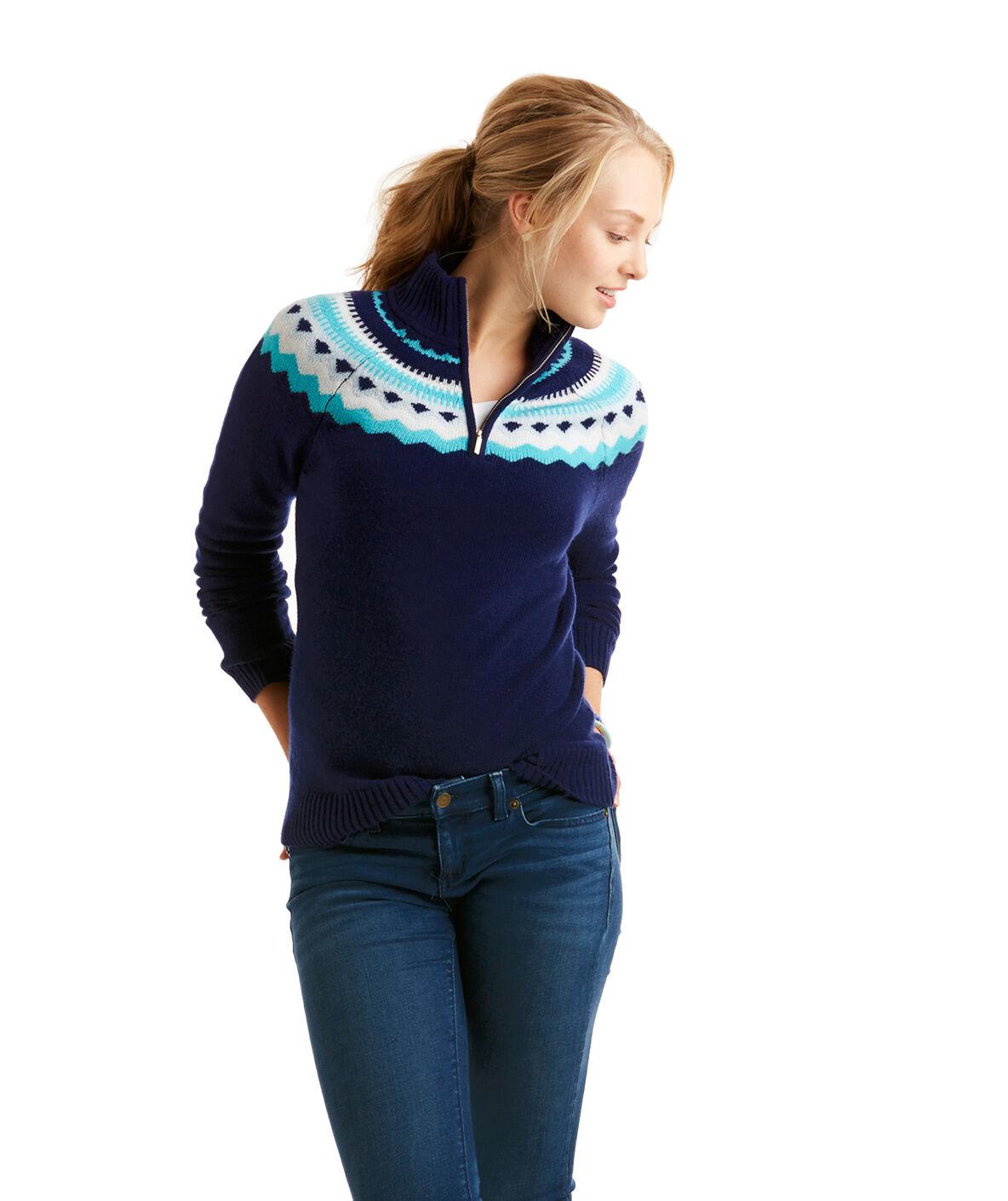 Shop Fair Isle 1/4-Zip Sweater at vineyard vines