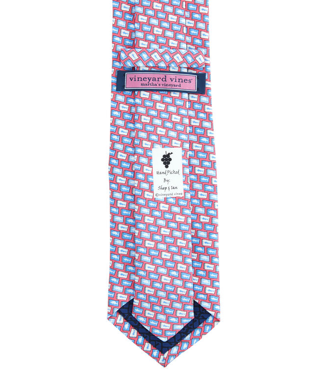 Fish Flag Printed Tie