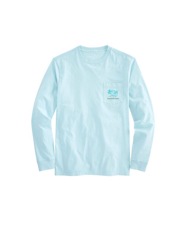 Long-Sleeve Vacation Hammock Pocket T-Shirt