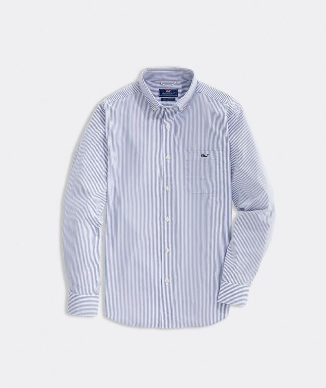 On-The-Go Nylon Striped Shirt