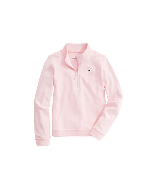 OUTLET Girls' Jersey 1/4-Zip Pullover