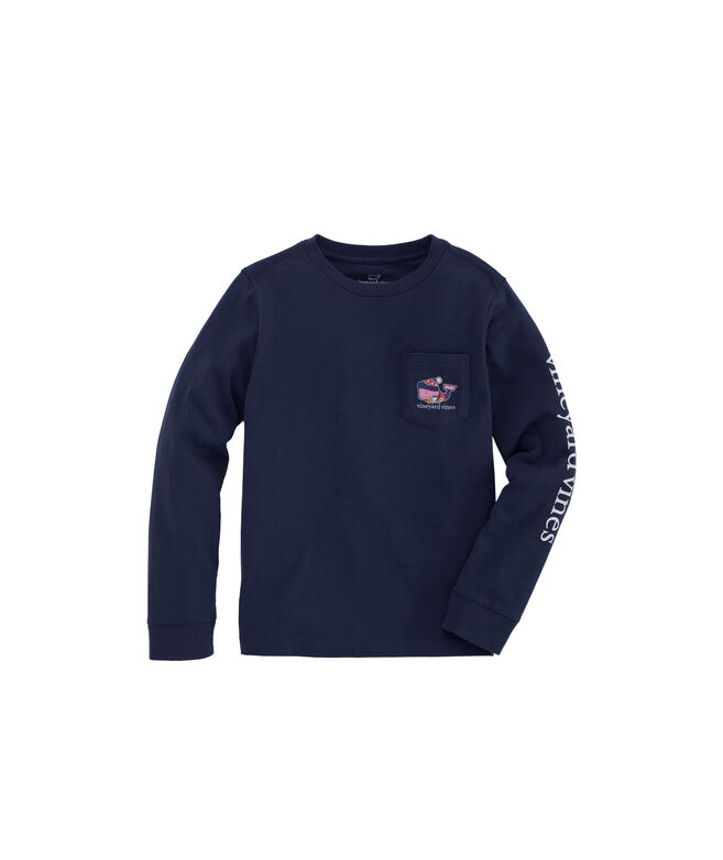 Kids Winter Sweater Whale Long-Sleeve Pocket Tee
