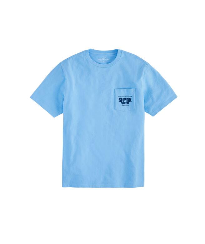 Adult Shark Week Shark Camo Whale Fill Pocket T-Shirt
