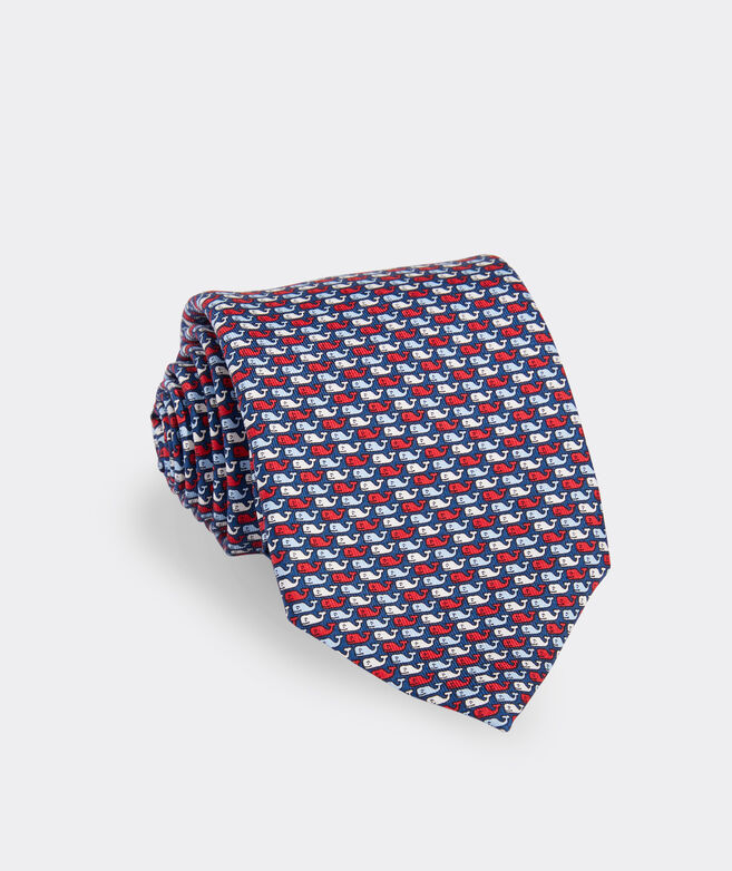 USA Whales Printed Tie