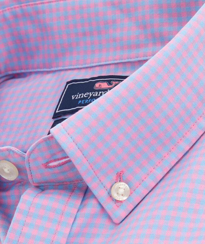 Big & Tall Classic Fit Lemon Shark Performance Cotton Tucker Button-Down Shirt