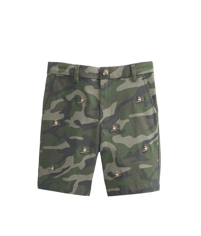 Boys Camo Embroidered Breaker Shorts