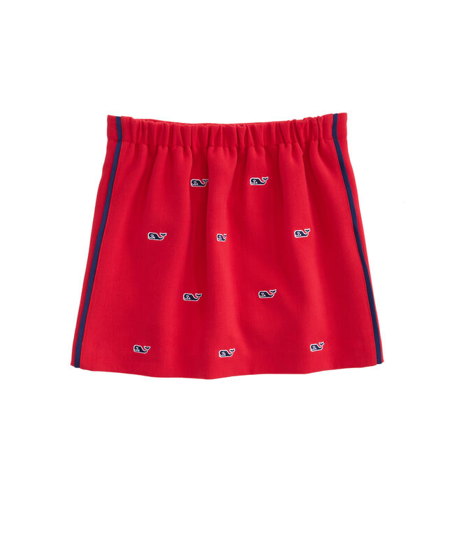 Girls Ponte Embroidered Holiday Skirt