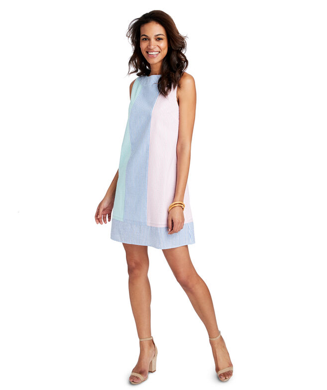 Party Seersucker Shift Dress