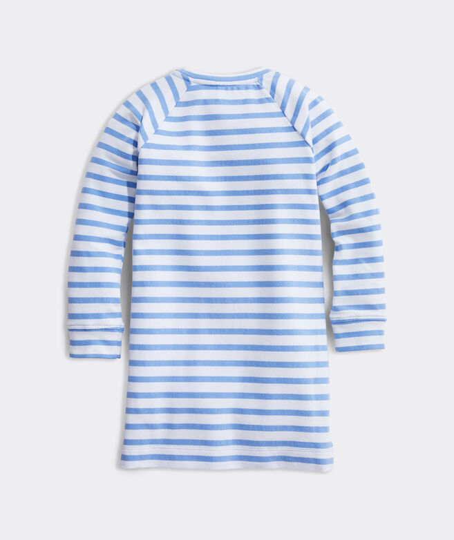 Girls' Sandpiper Stripe Terry Sweatshirt Dress