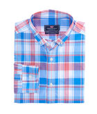 Beach Grass Gingham Classic Performance Murray Shirt