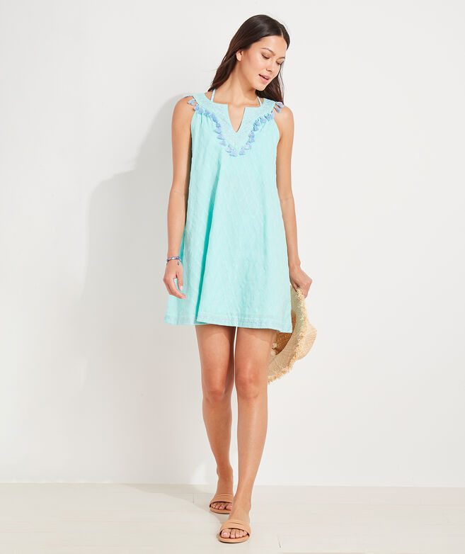 Lattice Embroidered Cover-Up