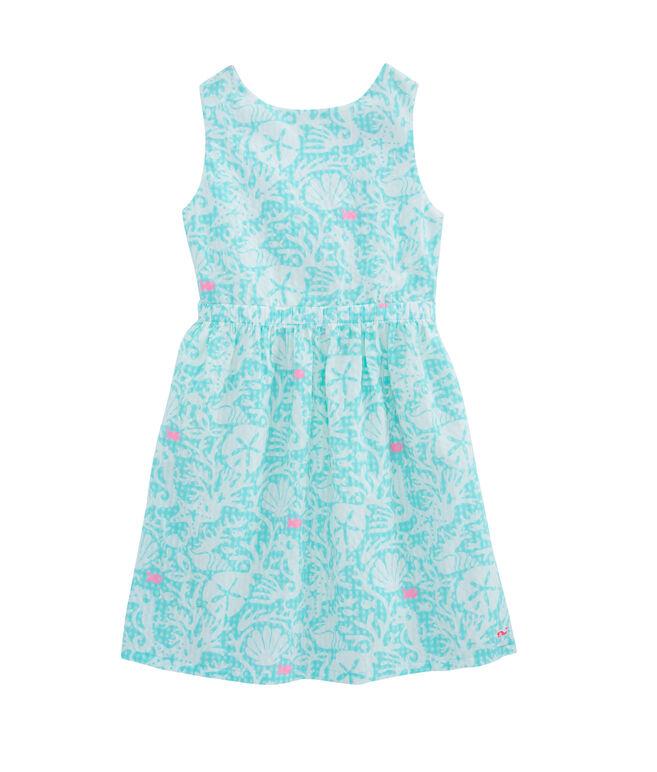Girls Sealife Gingham Dress