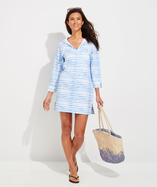 Painted Stripe Sankaty Hoodie Cover-Up
