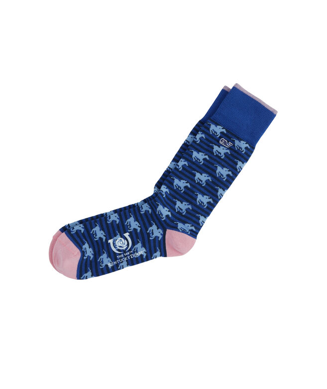 Striped Geo Horses Socks