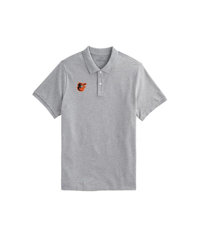 Baltimore Orioles Stretch Pique Heathered Polo
