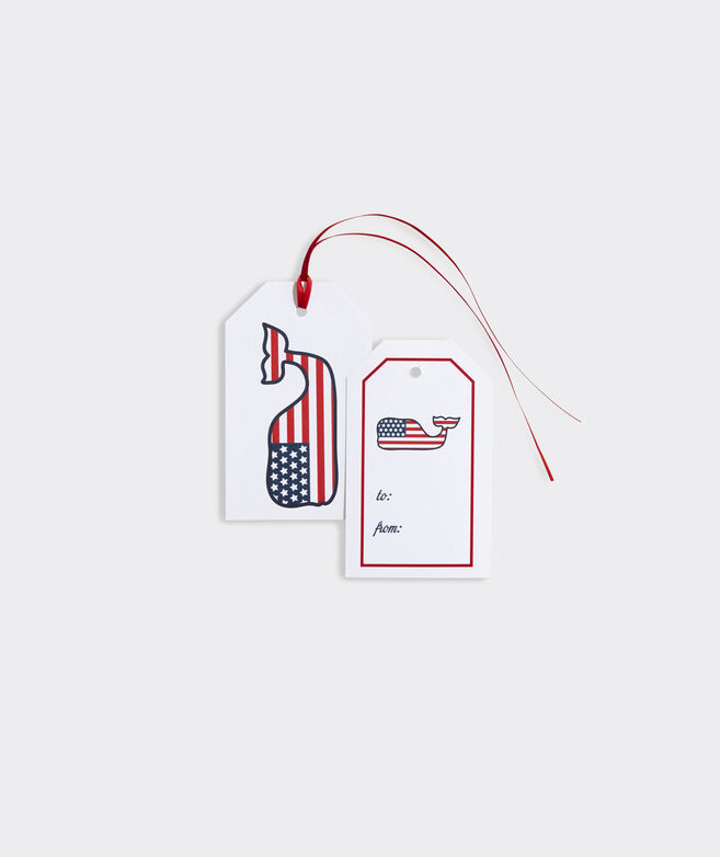 Flag Whale Gift Tags