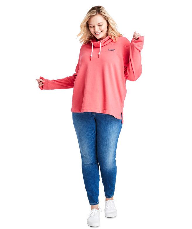 Garment-Dye Relaxed Funnel Neck Shep Shirt