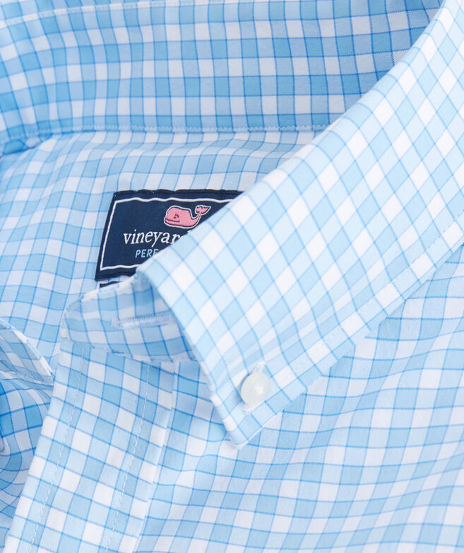 Classic Fit Bermuda Check On-The-Go Performance Tucker Shirt