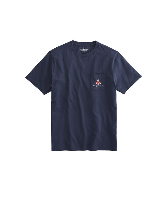 Adult Boston Red Sox EDSFSGSGSG Pocket T-Shirt
