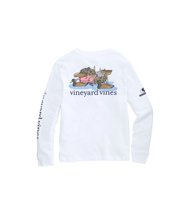 Boys Mossy Oak Duck Hunt Whale Long-Sleeve Pocket Tee
