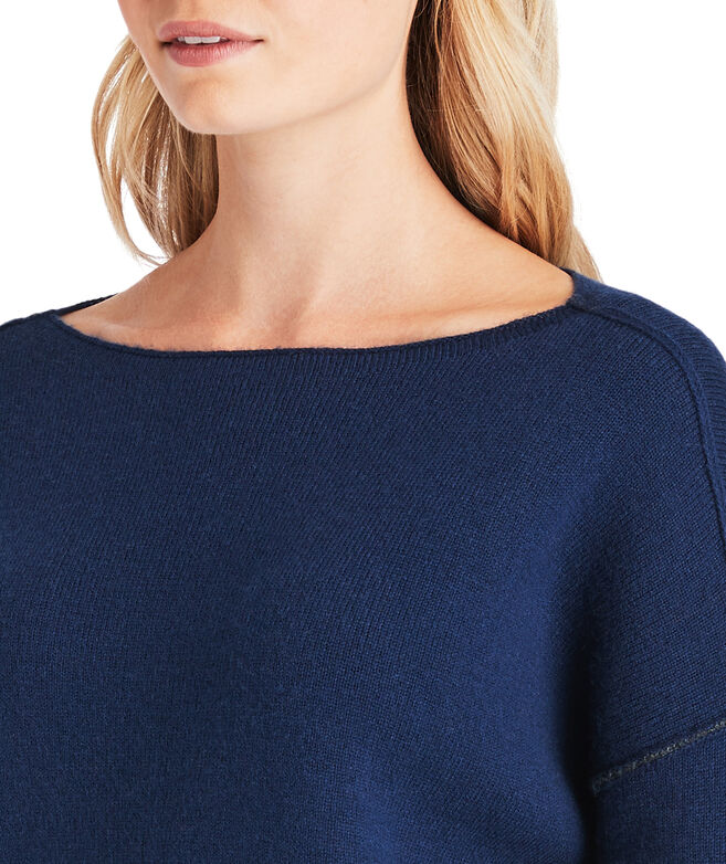 Doubleface Luxe Boat Neck Pullover