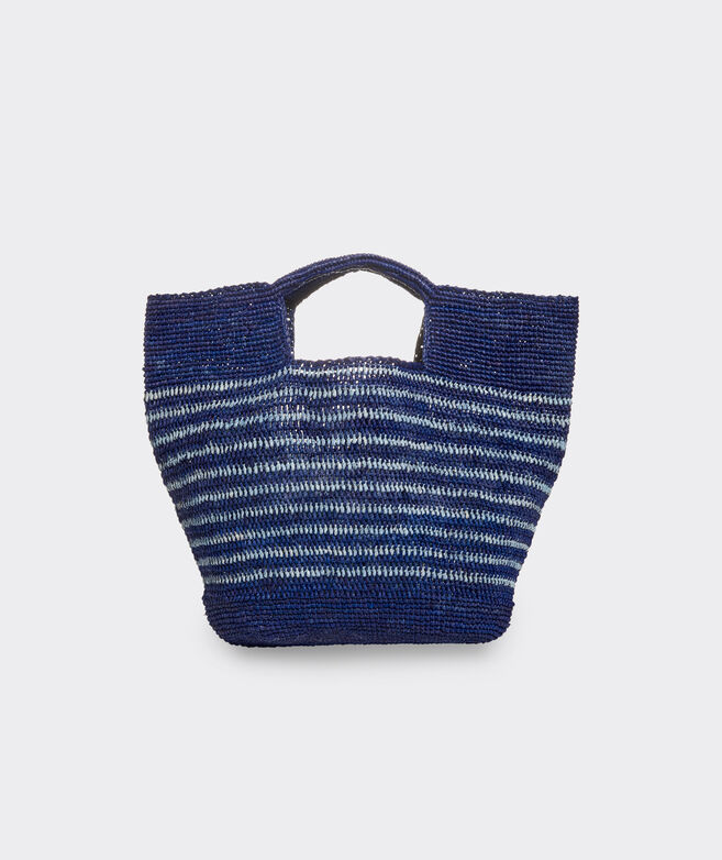 Striped Straw Market Tote