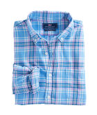 Ocean Walk Plaid Performance Flannel Slim Murray Shirt