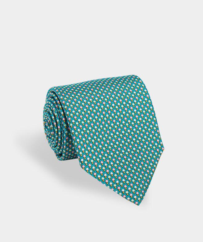 Ice Cream Cones Printed Tie