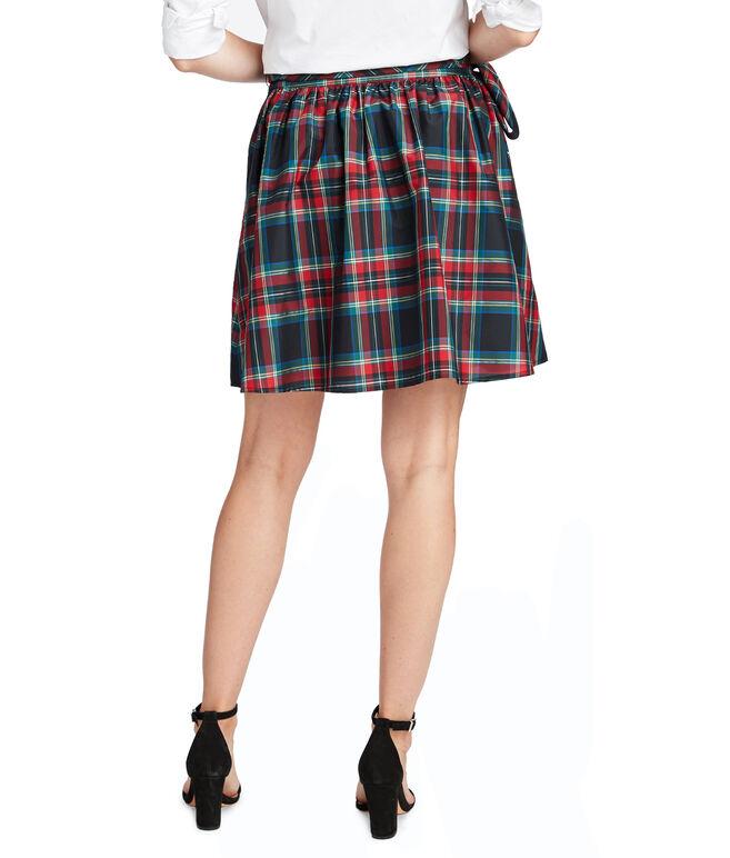 Jolly Plaid Taffeta Party Skirt