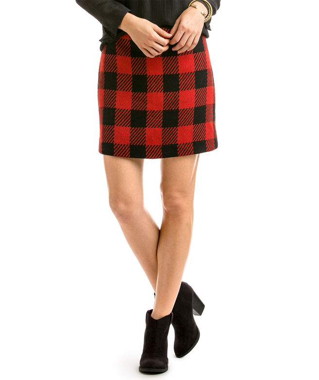 Shop Buffalo Plaid Skirt at vineyard vines