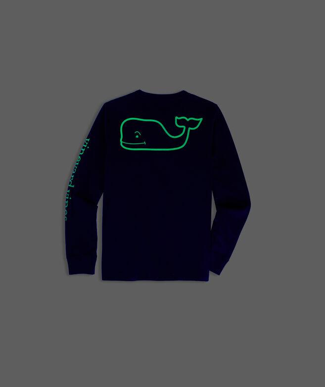 Boys' Glow In The Dark Whale Long-Sleeve Pocket Tee