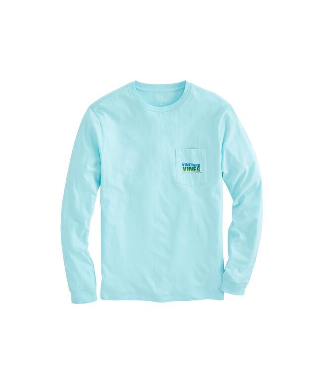 Long-Sleeve Mahi Texture Pocket T-Shirt