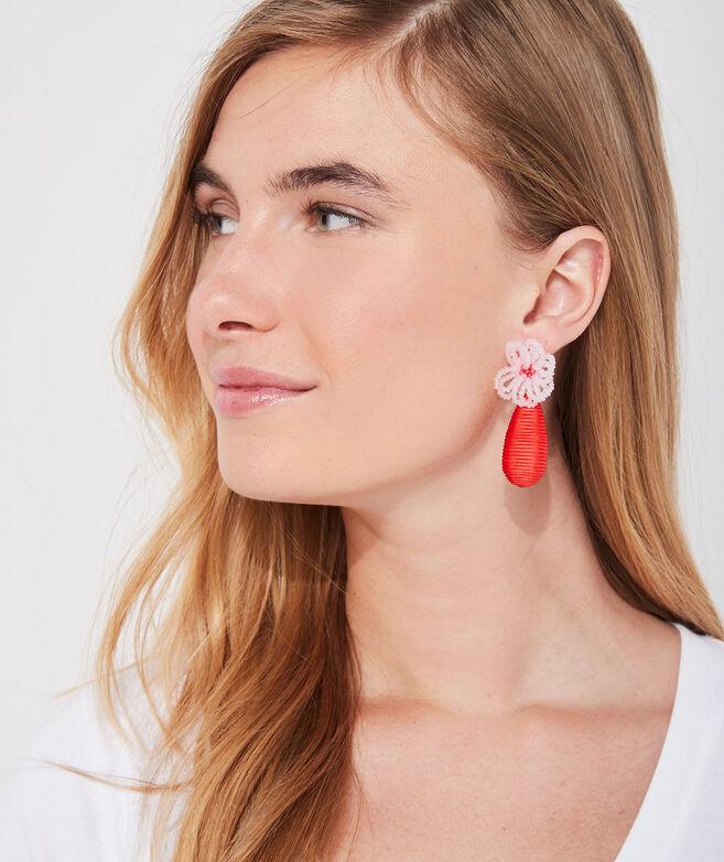 Flower Beaded Wrap Earrings